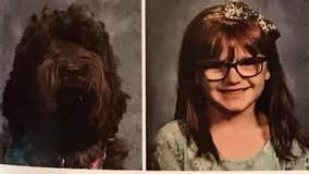 'I don't know how I can ever thank this dog': Service dog pictured by girl's side in yearbook