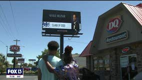 Mother congratulates son on billboard after graduation canceled