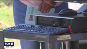 Families with multiple children, 1 computer, get much-needed gift of technology