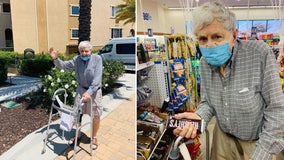 Air Force veteran, 93, hitchhikes to store for Hershey bars, says he and girlfriend split one 'every night'