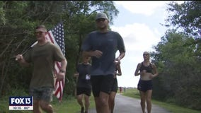 Sailor runs 48 miles in 48 hours to honor 48 soldiers who lost their lives