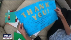 Student shows thanks for Publix during pandemic
