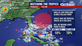 Forecast: Tropical activity off coast of Florida may bring a couple of showers to Bay Area on Friday