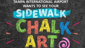 Tampa International Airport on the hunt for the best local chalk artists