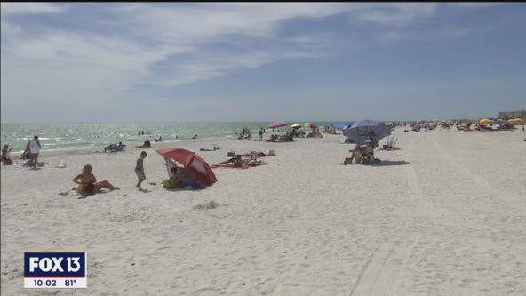 Crowded beaches for Memorial Day
