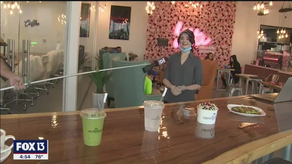 Inside this coffee shop, it's 'Raining Berries'