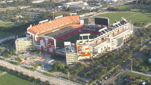 University Mall vaccination site and Raymond James Stadium testing location swap roles