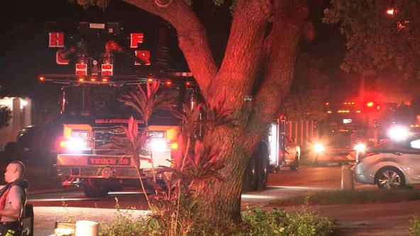 Hillsborough County firefighters rescue 2 people, 7 pets from house fire