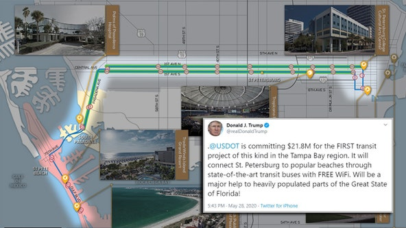 President announces funding for transit system connecting downtown St. Pete to beaches