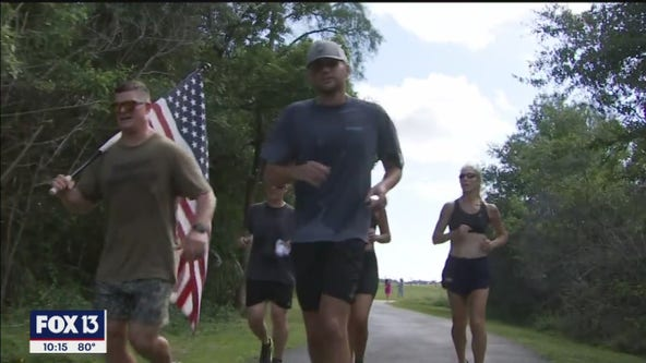 Naval officer runs 48 miles in 48 hours to honor 48 soldiers who lost their lives