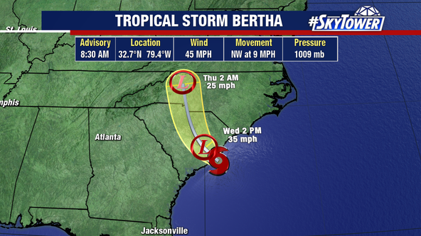Tropical Storm Bertha forms with no impact to Florida