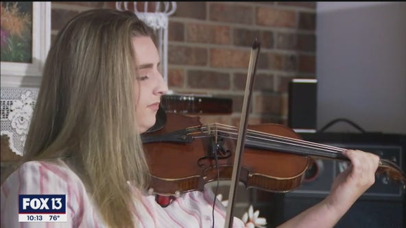 Lakeland teen plays personal 'violin-o-grams' for veterans on Memorial Day