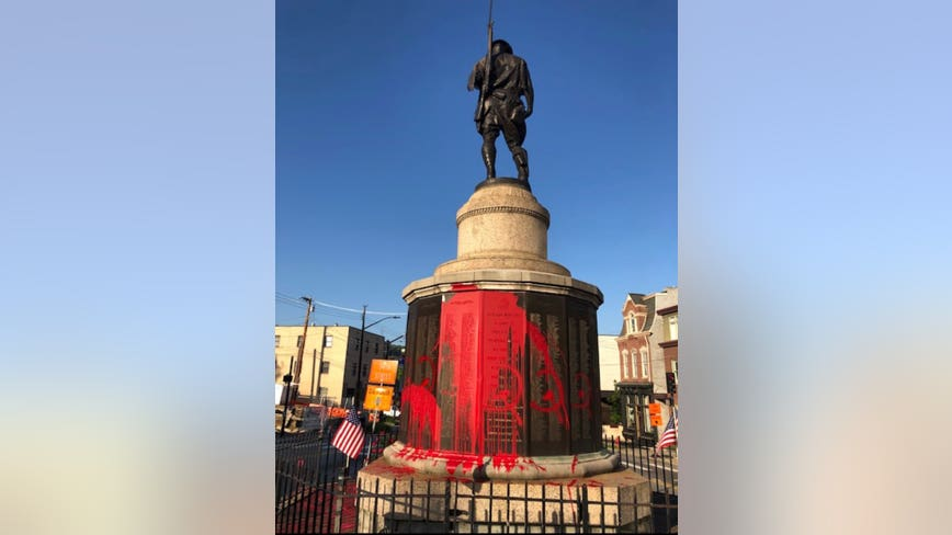 War memorial in Pittsburgh vandalized on eve of Memorial Day