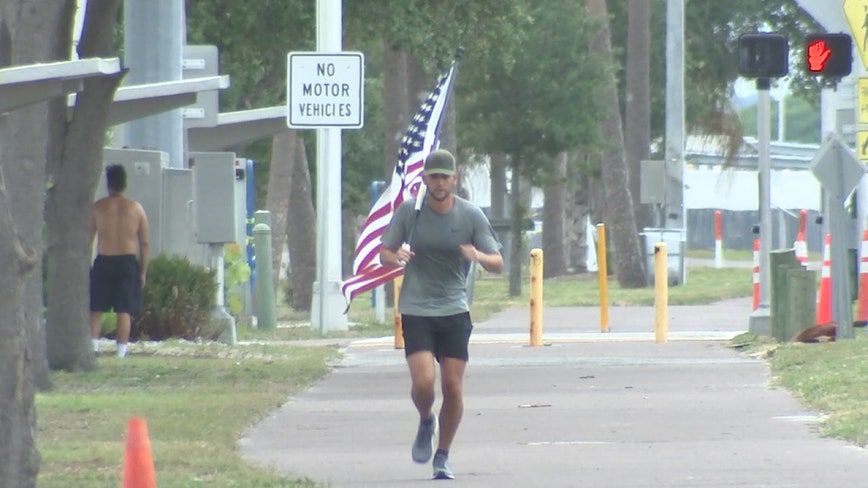 Miles for Heroes: Sailor will run four miles, every four hours to honor fallen heroes