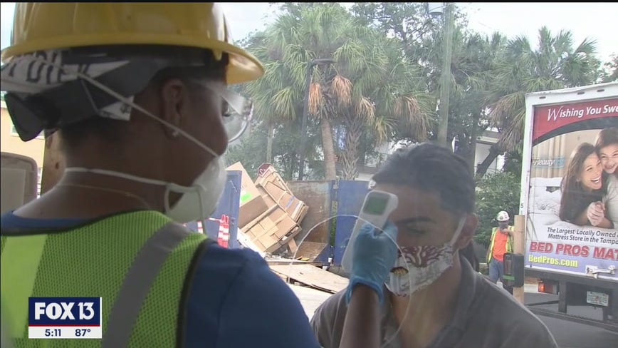 Tampa hires nurses to check COVID-19 safety at construction sites