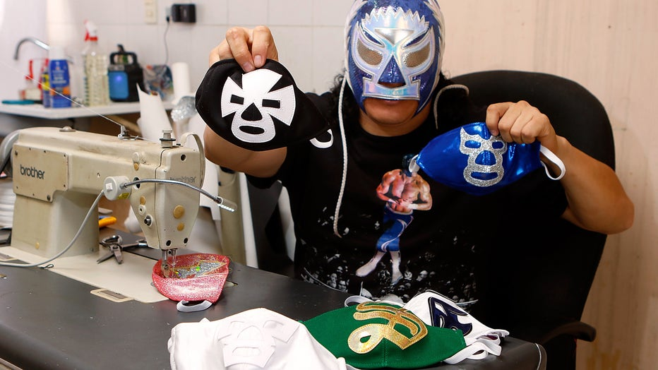 Lucha Libre Wrestler Turns To Produce Themed Face Masks During Coronavirus Pandemic