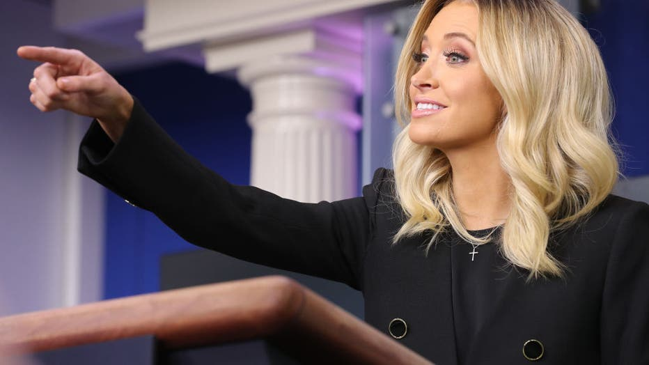 White House Press Secretary Kayleigh McEnany Holds Press Briefing At The White House