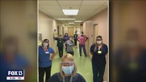 Postman delivers face shields to healthcare workers