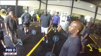 Bucs find ways to workout together