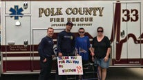 Signs remind Polk first responders that they are appreciated