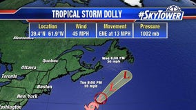 Tropical Storm Dolly forms in Atlantic; no threat to U.S.