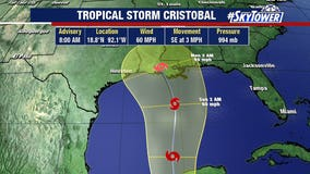 Tropical Storm Cristobal makes Mexican landfall, but U.S. could still get soaked