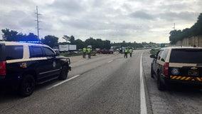 I-4 crashes slow traffic through Lakeland; at least 1 person killed