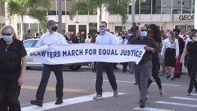 Prosecutors, public defenders, judges lead march for equal justice in Tampa