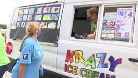Pastor gifted ice cream truck for birthday shares sweet treats with community