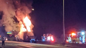 Wrong-way driver causes fiery crash involving semi-truck on I-275, troopers say