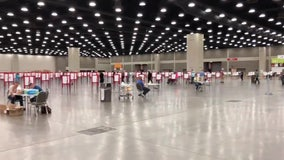Louisville, with population of 600,000, has a one polling place in Kentucky primary