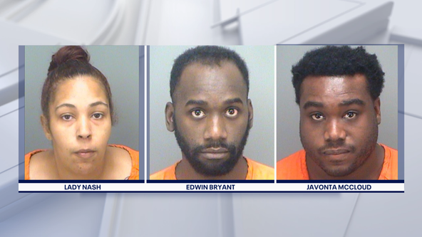 Three arrested in St. Pete after police find bricks, bottles, and gas can in SUV