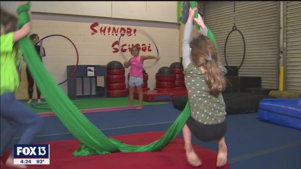 Kids flip for Shinobi School camp