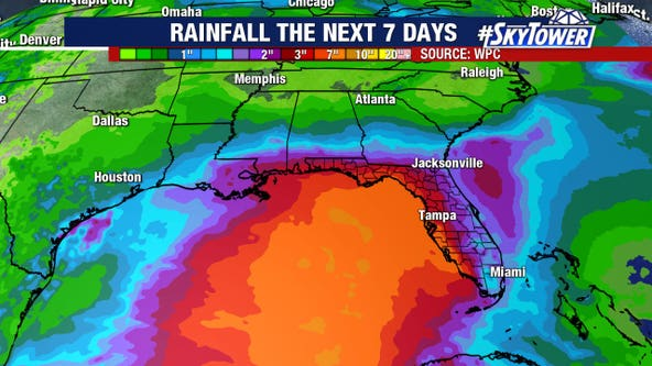 Pacific storm may reform in gulf, bring a soaking to southeastern U.S.