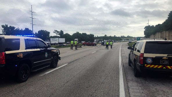 I-4 crashes slow traffic through Lakeland; at least 1 person killed