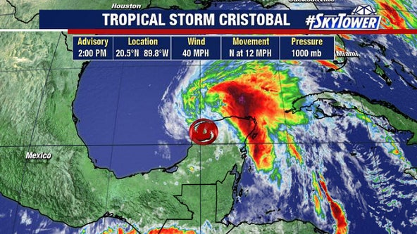 First watches issued as Tropical Storm Cristobal targets Gulf Coast