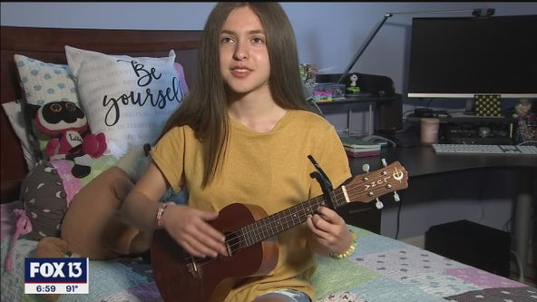 Teen songwriter turned friend's positive social media posts in lyrics
