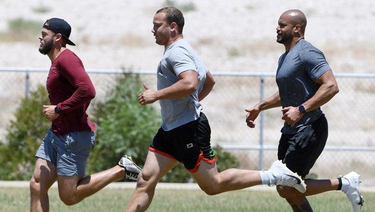 Las Vegas Raiders Hold Practice In Park