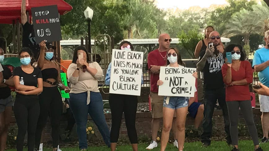 Peaceful protesters gather in Polk County; curfew in effect at 8 p.m.