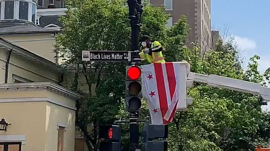 DC street near White House renamed 'Black Lives Matter Plaza'