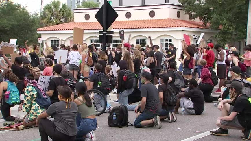St. Pete police to fine protesters for blocking streets, halting traffic