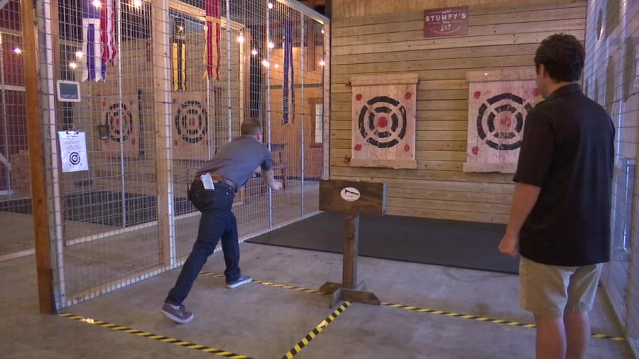 Ax-throwing: A fun, cathartic escape