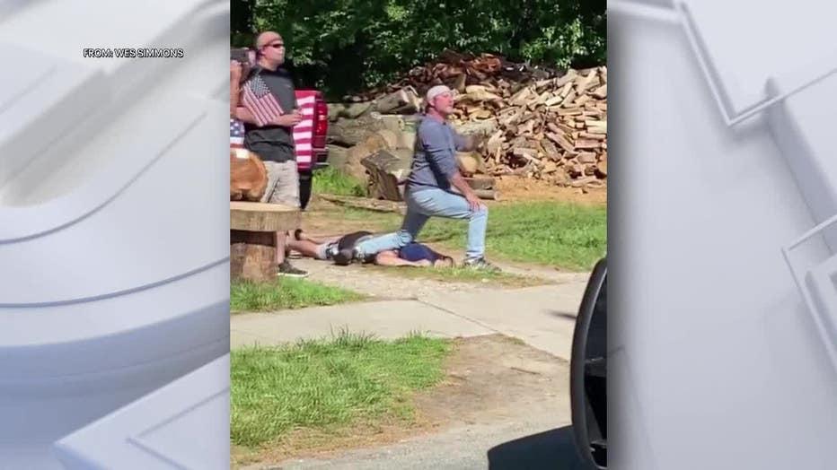 Franklinville Counter Protests Kneel George Floyd