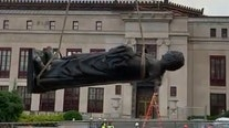 Statue of Christopher Columbus removed From Columbus city hall