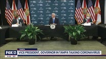 Vice president, DeSantis in Tampa discussing COVID-19 spike