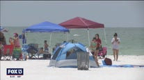 Beaches busy ahead of holiday weekend
