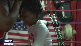 Boxing keeps 10-year-old focused