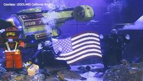 More than 2,000 LEGOs make up American flag on display at LEGOLAND California's Sea Life Aquarium