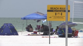 Pinellas County beaches packed during holiday weekend