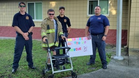 Man with rare genetic disorder traveled 2,000 miles in 2 months to support Polk County firefighters